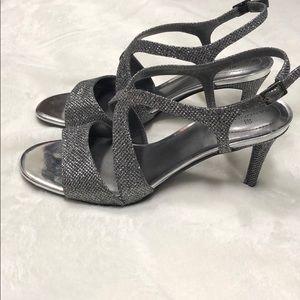 Bandolino women's silver sparkly heels